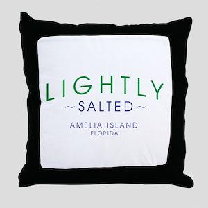 Lightly Salted Amelia Island Florida Throw Pillow
