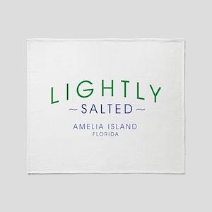 Lightly Salted Amelia Island Florida Throw Blanket
