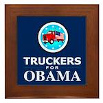 Truckers for Obama Framed Tile
