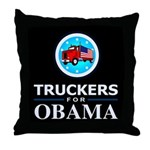 Truckers for Obama Throw Pillow