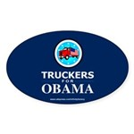 Truckers for Obama Oval Sticker