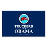 Truckers for Obama Rectangle Sticker 50 pk)