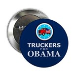 """Truckers for Obama 2.25"""" Button"""