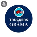 """Truckers for Obama 3.5"""" Button (10 pack)"""