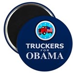 """Truckers for Obama 2.25"""" Magnet (100 pack)"""