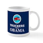 Truckers for Obama Dark Mug