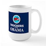 Truckers for Obama Dark Large Mug
