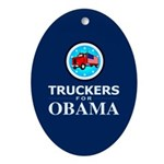 Truckers for Obama Oval Ornament