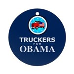 Truckers for Obama Ornament (Round)