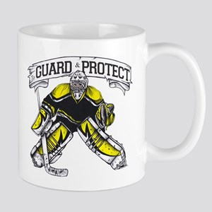 Guard And Protect Hockey Goalie Mugs