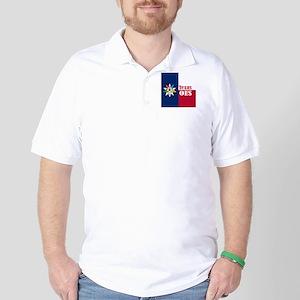 Texas Flag Eastern Star Golf Shirt