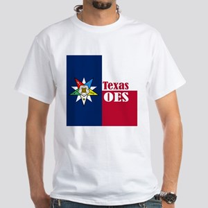 Texas Flag Eastern Star White T-Shirt