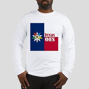 Texas Flag Eastern Star Long Sleeve T-Shirt