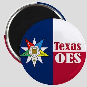 Texas Flag Eastern Star Magnet