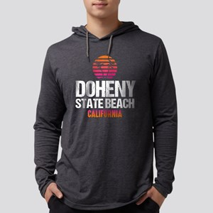 Sunset Doheny Beach Mens Hooded Shirt