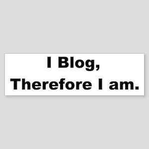 I Blog Bumper Sticker