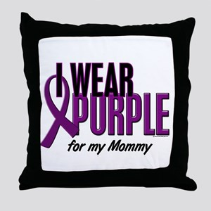 I Wear Purple For My Mommy 10 Throw Pillow