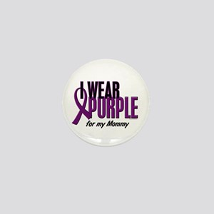 I Wear Purple For My Mommy 10 Mini Button