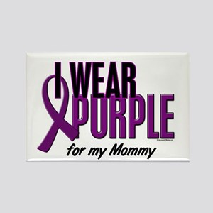 I Wear Purple For My Mommy 10 Rectangle Magnet