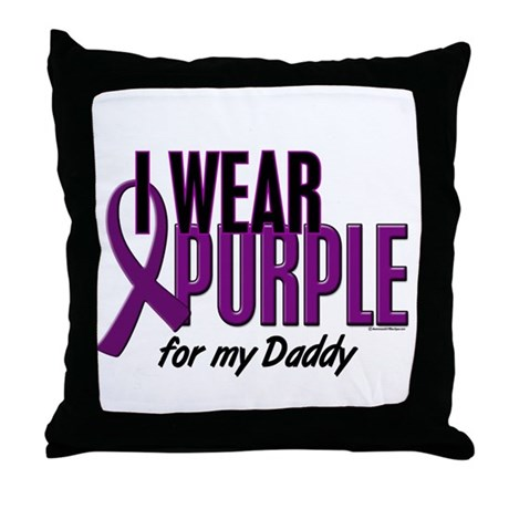 I Wear Purple For My Daddy 10 Throw Pillow