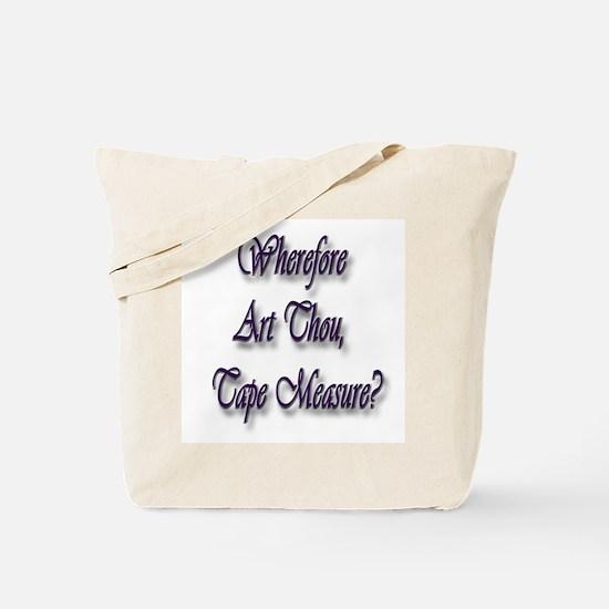 Tape Measure Tote Bag