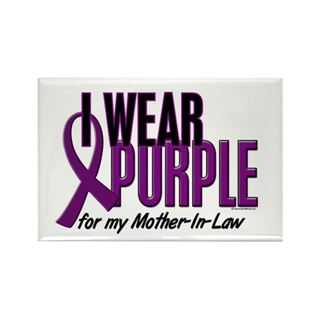 I Wear Purple For My Mother-In-Law 10 Rectangle Ma