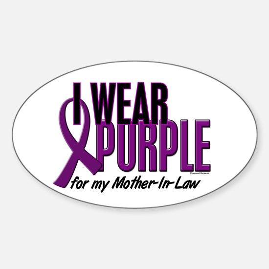 I Wear Purple For My Mother-In-Law 10 Decal