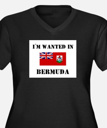 I'm Wanted In Bermuda Women's Plus Size V-Neck Dar