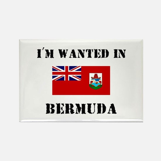 I'm Wanted In Bermuda Rectangle Magnet