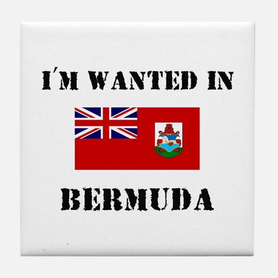 I'm Wanted In Bermuda Tile Coaster
