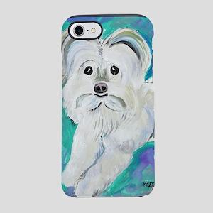 White Maltipoo iPhone 8/7 Tough Case