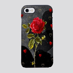 Red Rose Black Hearts iPhone 8/7 Tough Case