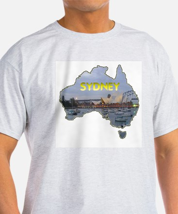 Sydney Opera House Ash Grey T-Shirt