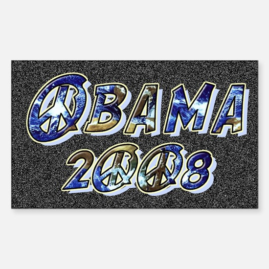 Obama 2008 Earth Rectangle Decal