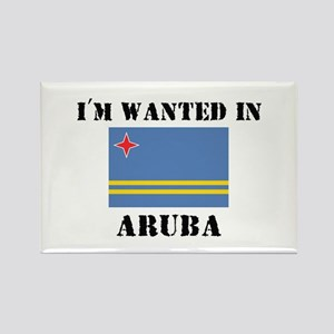 I'm Wanted In Aruba Rectangle Magnet