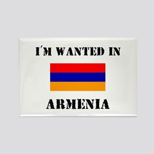 I'm Wanted In Armenia Rectangle Magnet