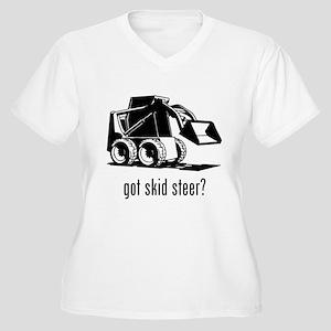 Skid Steer Women's Plus Size V-Neck T-Shirt