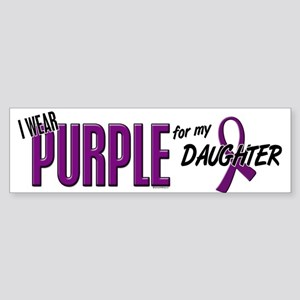 I Wear Purple For My Daughter 10 Bumper Sticker