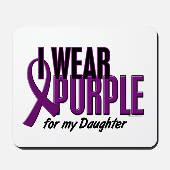 I Wear Purple For My Daughter 10 Mousepad
