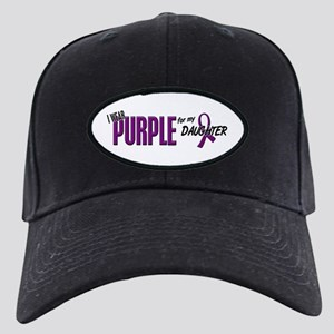 I Wear Purple For My Daughter 10 Black Cap
