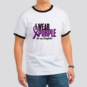 I Wear Purple For My Daughter 10 Ringer T