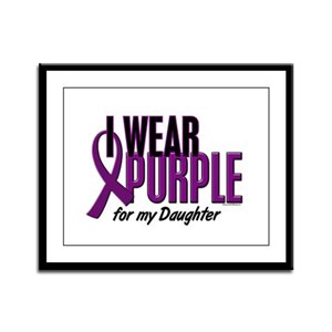 I Wear Purple For My Daughter 10 Framed Panel Prin
