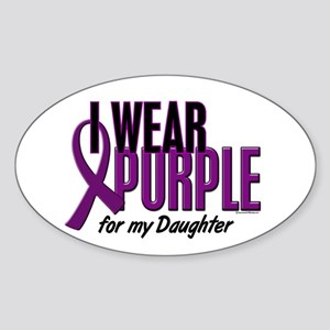 I Wear Purple For My Daughter 10 Oval Sticker