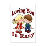 Loving You Is Easy Mini Poster Print