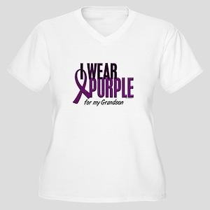 I Wear Purple For My Grandson 10 Women's Plus Size