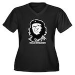 Viva La Revolucion! Women's Plus Size V-Neck Dark