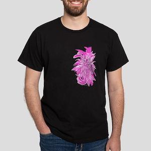 Flower Skull Wall Style VINTA Dark T-Shirt