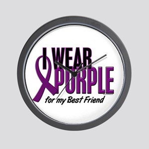 I Wear Purple For My Best Friend 10 Wall Clock