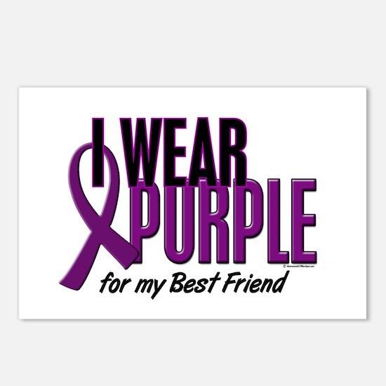 I Wear Purple For My Best Friend 10 Postcards (Pac