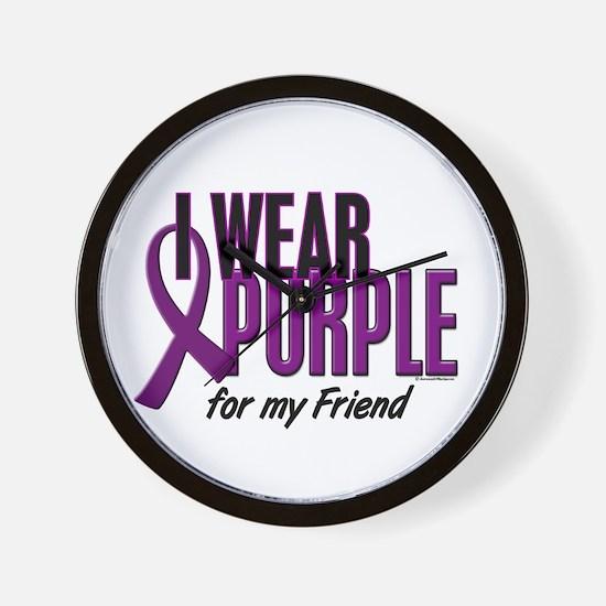 I Wear Purple For My Friend 10 Wall Clock